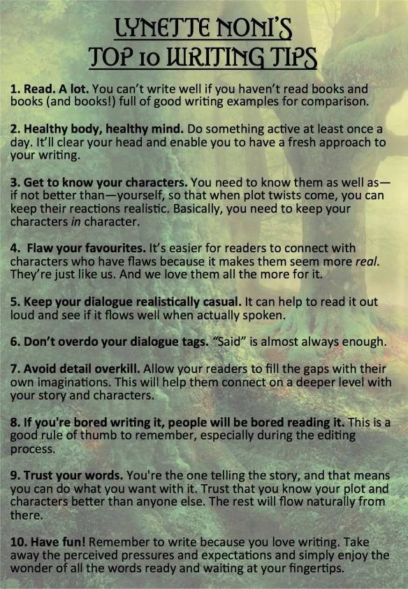 Top 10 Writing Tips | Lynette Noni